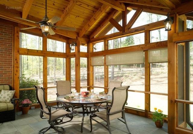 楼顶天台装修设计大全,阳光房装修设计效果图